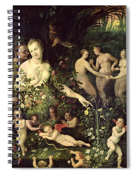 Allegory Of Water Or Allegory Of Love Spiral Notebook