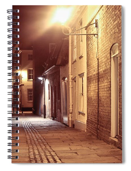 Alley At Night Spiral Notebook