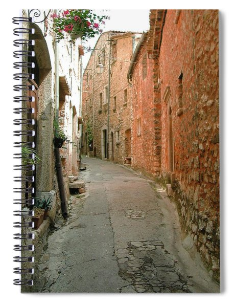 Alley In Tourrette-sur-loup Spiral Notebook