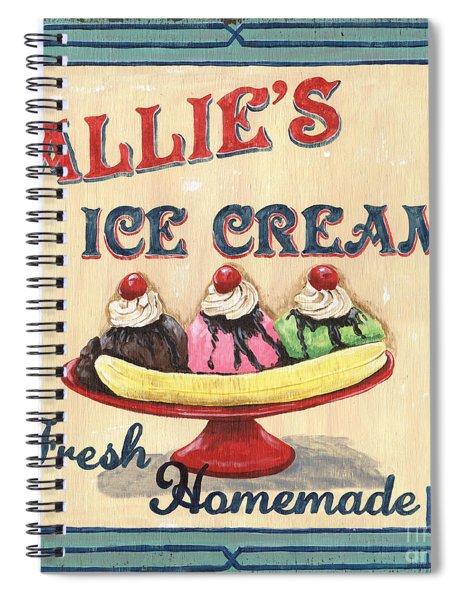 Allie's Ice Cream Spiral Notebook