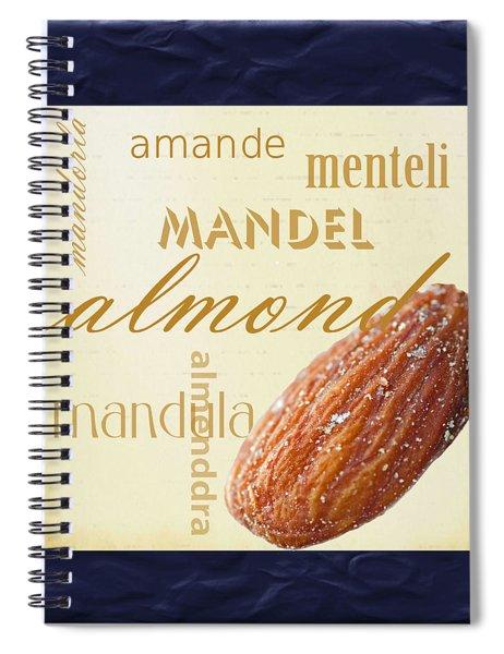 Almond Spiral Notebook
