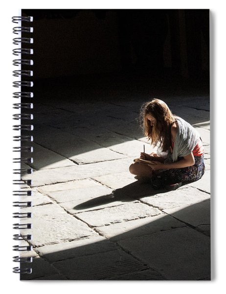 Alone In A Pool Of Light Spiral Notebook