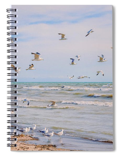 Spiral Notebook featuring the photograph Along The Beach by Garvin Hunter