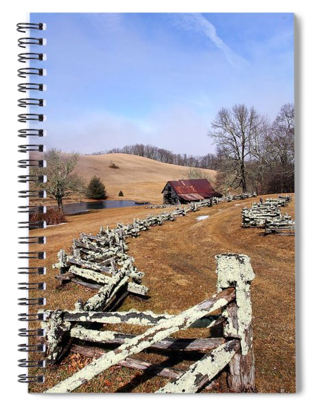 Along The Locust Rails Spiral Notebook