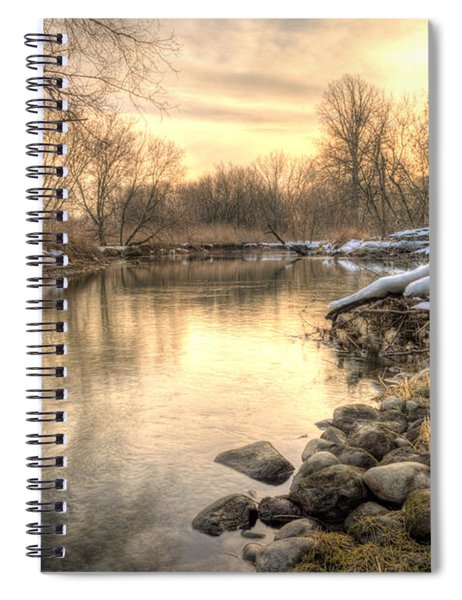 Spiral Notebook featuring the photograph Along The Thames River  by Garvin Hunter