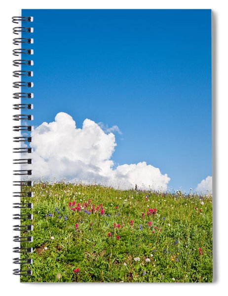 Alpine Meadow And Cloud Formation Spiral Notebook