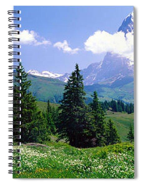 Alpine Scene Near Murren Switzerland Spiral Notebook