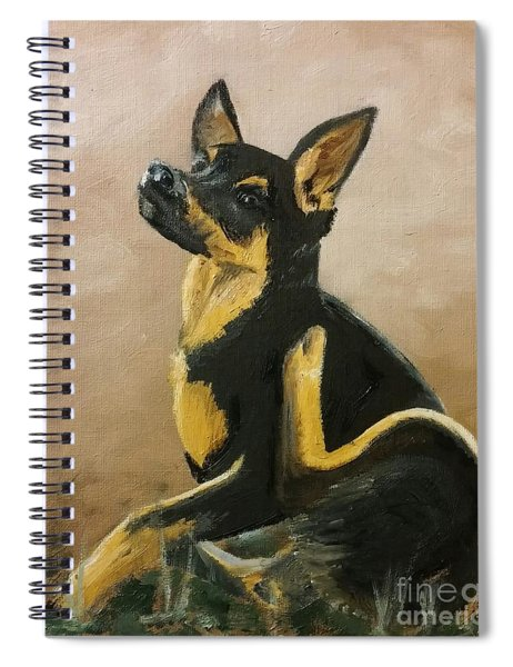 Alsatian Puppy Scratching Spiral Notebook