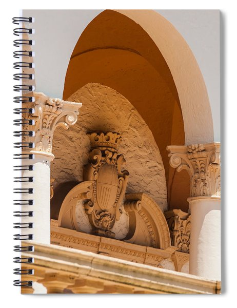 Spiral Notebook featuring the photograph Alto Relievo Coat Of Arms by Ed Gleichman