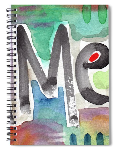 Amen- Colorful Word Art Painting Spiral Notebook