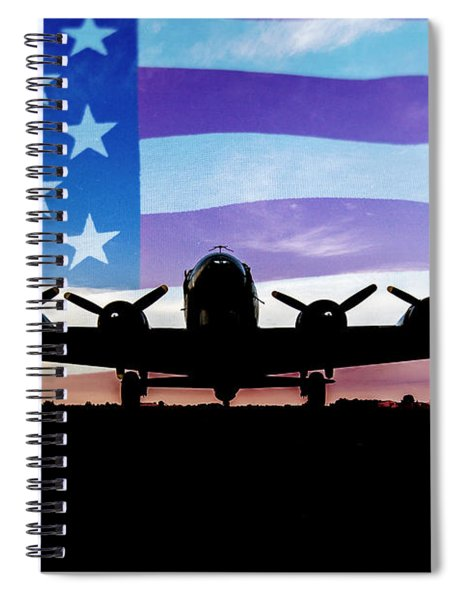 American B-17 Flying Fortress Spiral Notebook