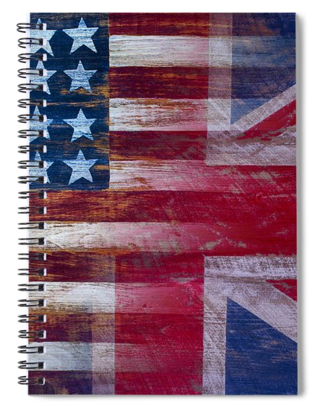 American British Flag Spiral Notebook