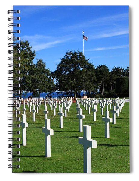 American Cemetery Normandy Spiral Notebook