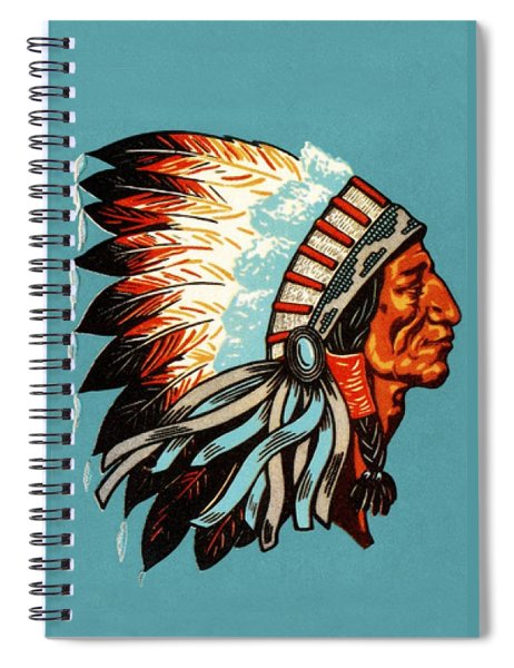American Indian Chief Profile Spiral Notebook