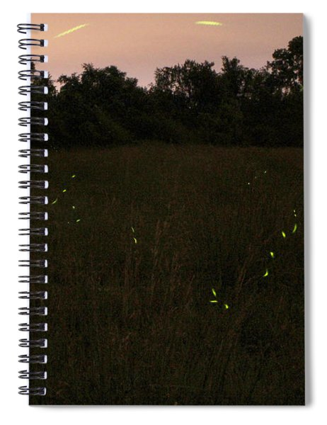 Among The Fireflies One Magical Night Spiral Notebook