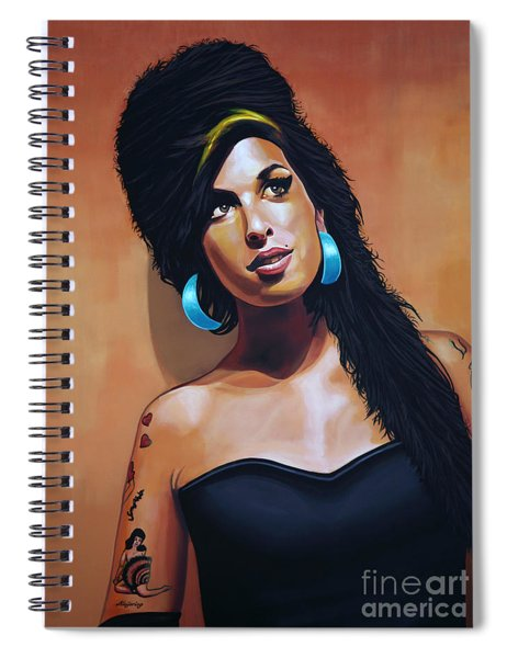 Amy Winehouse Spiral Notebook