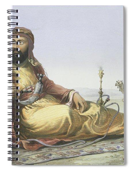 An Arab Resting In The Desert, Title Spiral Notebook