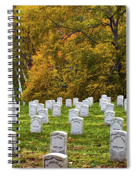 An Autumn Day In Arlington Spiral Notebook
