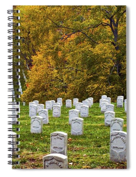 An Autumn Day In Arlington Spiral Notebook