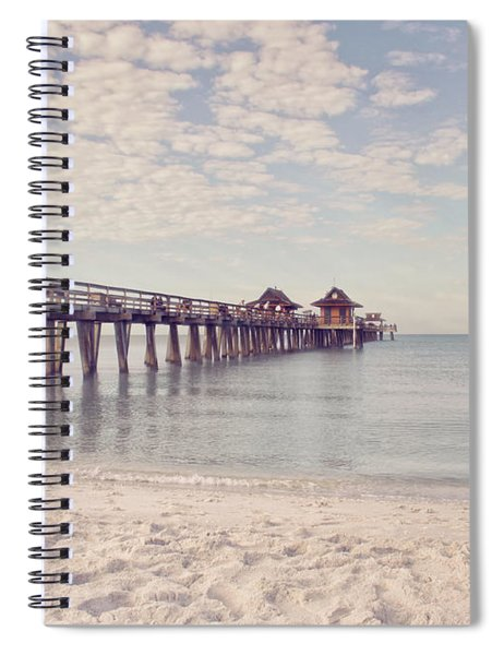 An Early Morning - Naples Pier Spiral Notebook
