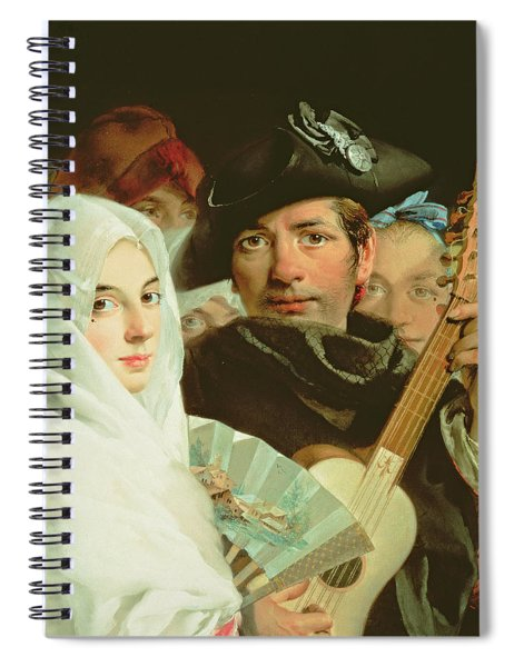 An Elegant Couple From Madrid, C.1770 Oil On Canvas Spiral Notebook