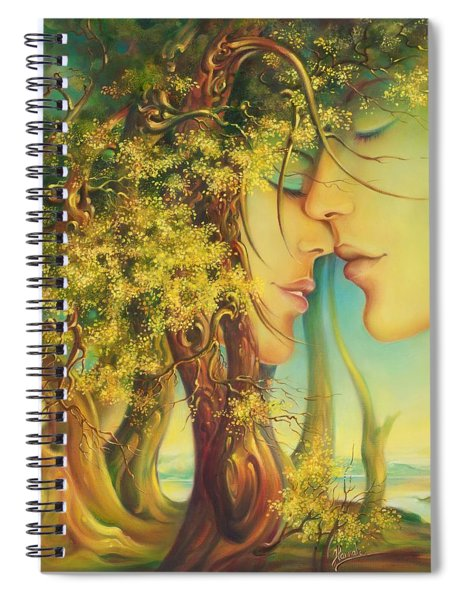 An Encounter At The Edge Of The Forest Spiral Notebook