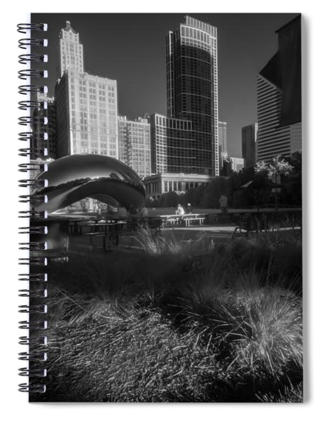 An Infrared Look At Chicago's Cloud Gate Spiral Notebook