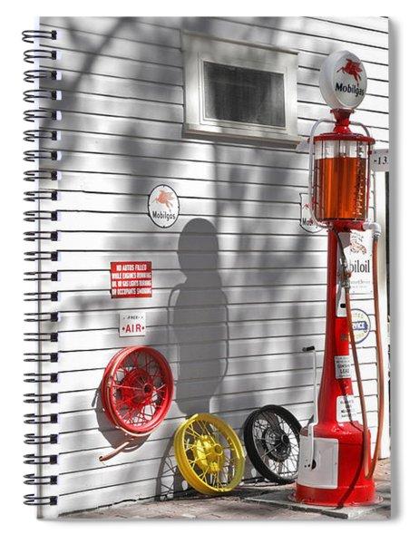 An Old Village Gas Station Spiral Notebook