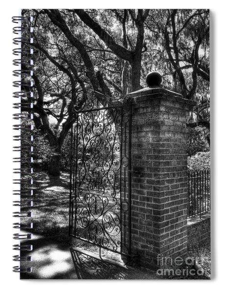 An Open Gate 2 Bw Spiral Notebook