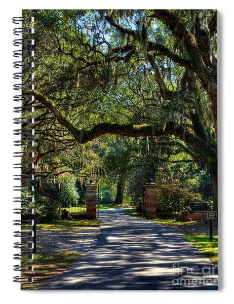 Spiral Notebook featuring the photograph An Open Gate 3 by Mel Steinhauer