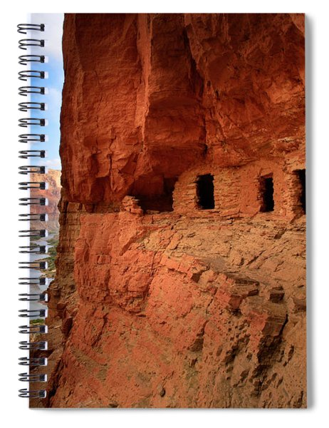 Spiral Notebook featuring the photograph Anasazi Granaries by Inge Johnsson