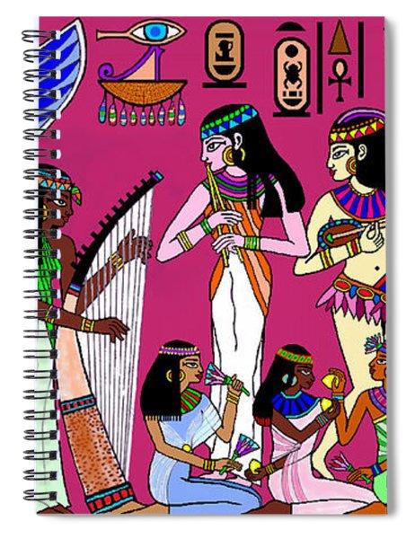 Ancient Egypt Splendor Spiral Notebook