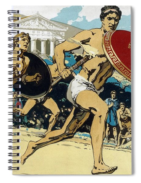 Ancient Olympic Games  The Relay Race Spiral Notebook