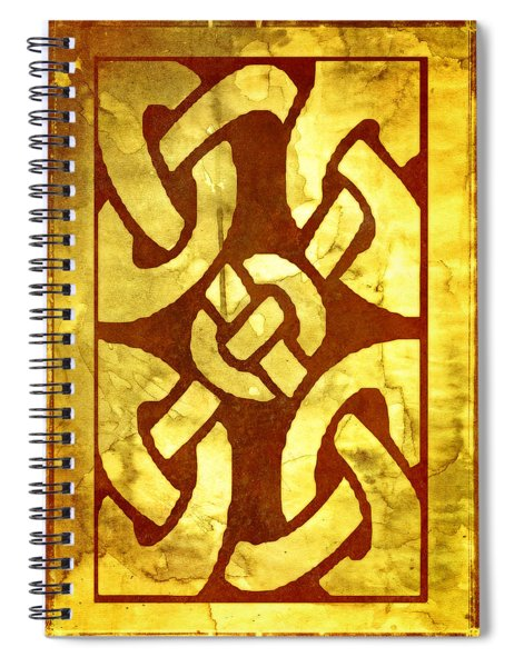 Ancient Ornamental Celtic Design Spiral Notebook