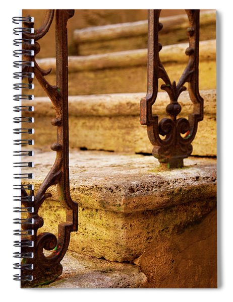 Spiral Notebook featuring the photograph Ancient Steps by Brian Jannsen
