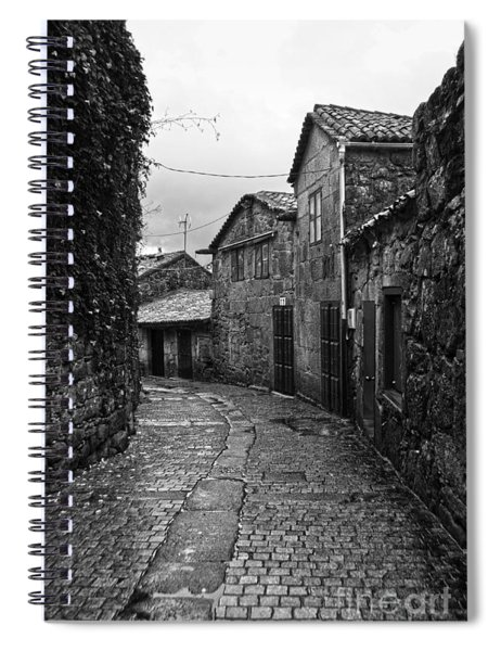 Ancient Street In Tui Bw Spiral Notebook