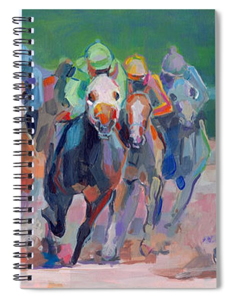 And Down The Stretch They Com Spiral Notebook