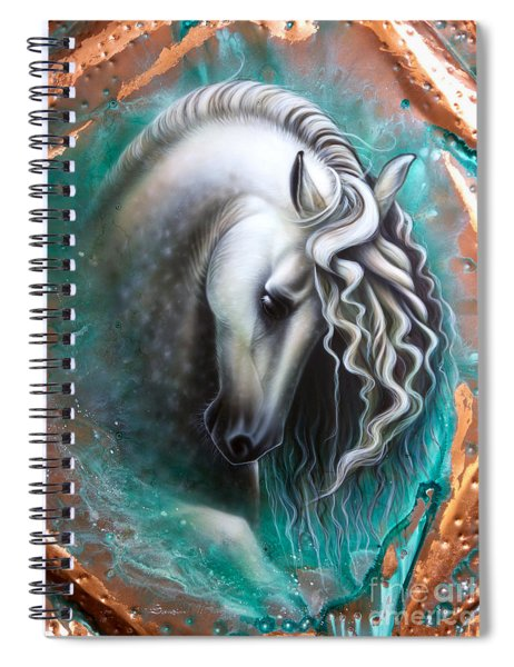 Andalusian - Copper Spiral Notebook