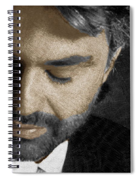 Andrea Bocelli And Square Spiral Notebook