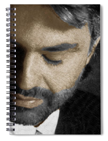 Andrea Bocelli And Vertical Spiral Notebook