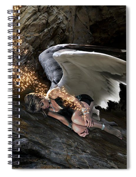 Angel- Give Your Worries To The Father Spiral Notebook