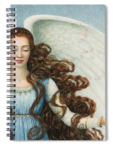 Angel In A Blue Dress Spiral Notebook