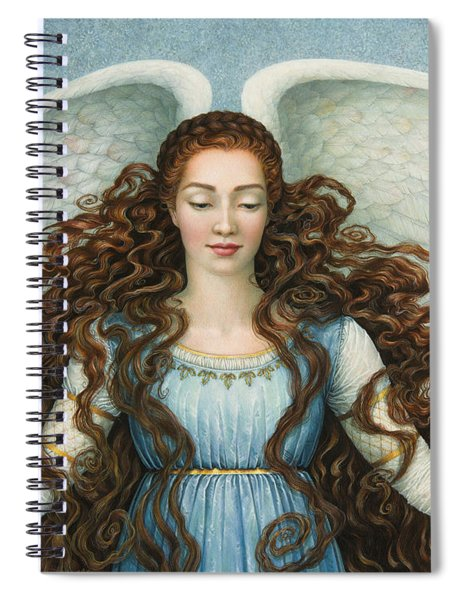 Angel In A Blue Dress Spiral Notebook
