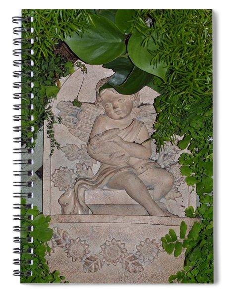 Angel In Woods Spiral Notebook