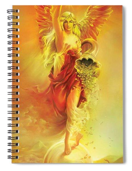 Angel Of Abundance - Fortuna Spiral Notebook