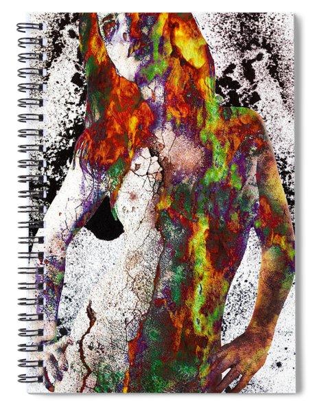 Angel Of Debris Spiral Notebook