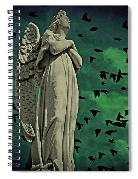Angel Of Stone Spiral Notebook