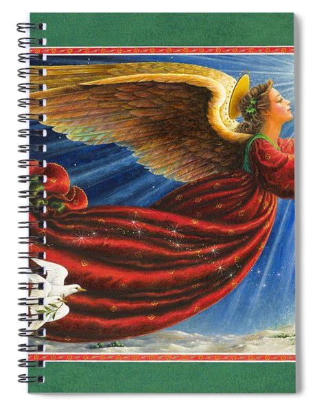 Angel Of The Star Spiral Notebook