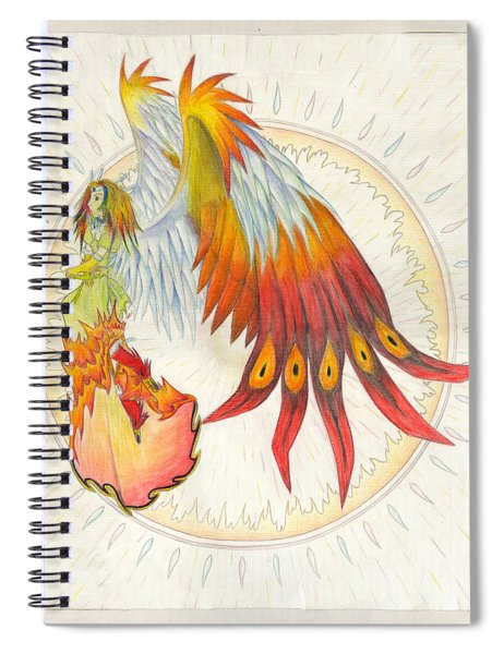 Angel Phoenix Spiral Notebook
