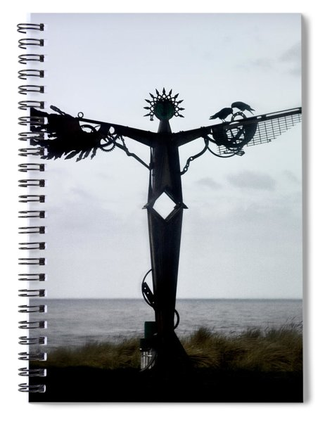 Angel Sculpture On The Oregon Coast Spiral Notebook